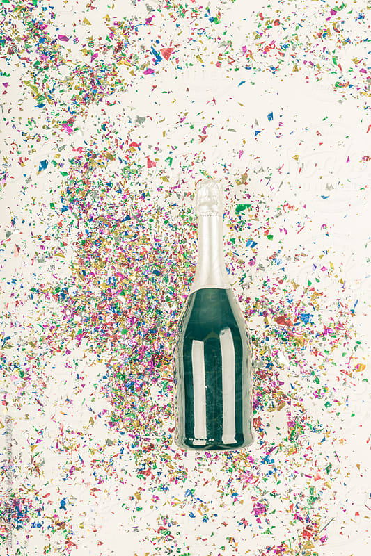 Confetti and Champagne Time to Celebrate by suzanne clements for Stocksy United