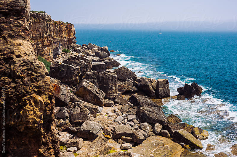 Rocky coastline in Portugal by Good Vibrations Images for Stocksy United