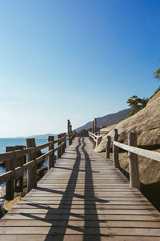Wooden path to the beach by Jovo Jovanovic for Stocksy United