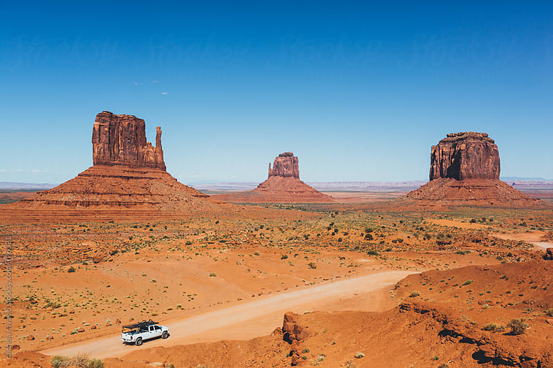View of the Mittens, Monument Valley, Usa by michela ravasio for Stocksy United