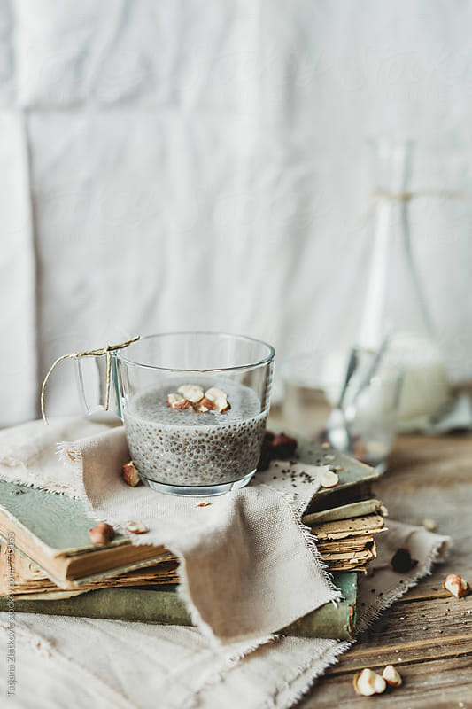Chia pudding by Tatjana Zlatkovic for Stocksy United