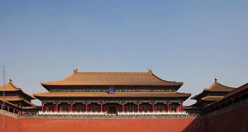 Forbidden City, Meridian Gate, Beijing, China  by Mental Art + Design for Stocksy United