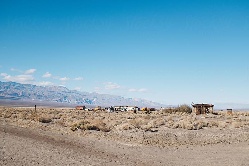 empty ghost town in usa  by Jesse Morrow for Stocksy United