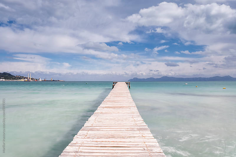 Boardwalk Through Sea by Marilar Irastorza for Stocksy United