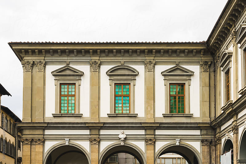 detail of an elegant building in Florence (italy) by Juri Pozzi for Stocksy United