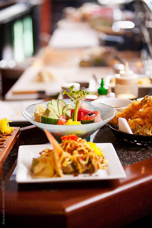 Sushi: Focus on Fancy Sashimi Plate by Sean Locke for Stocksy United
