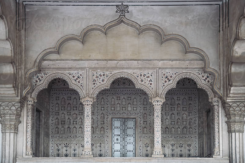 Balcony in Agra Fort  by RG&B Images for Stocksy United