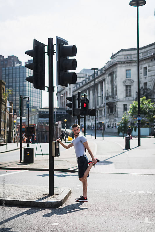 Running in the city by Mauro Grigollo for Stocksy United