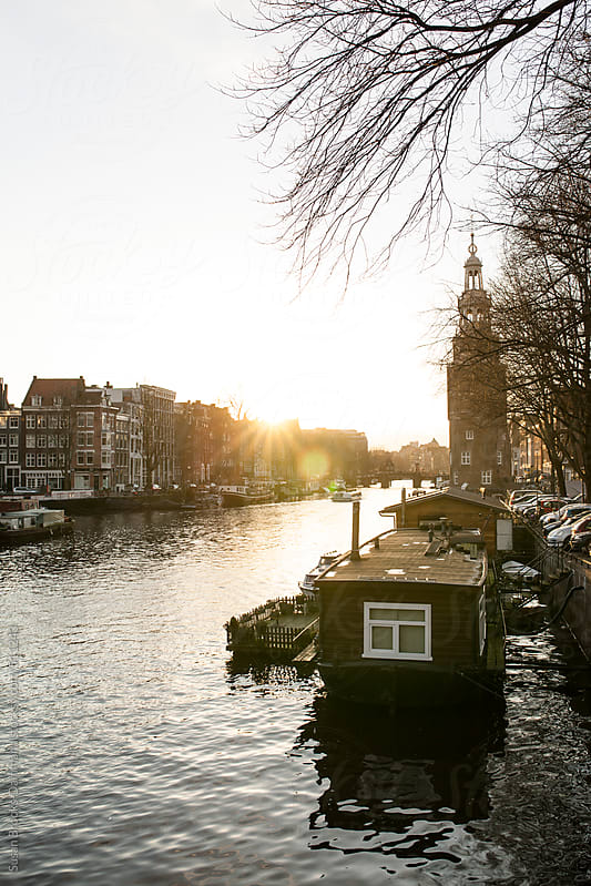 Ansterdam canal by Susan Brooks-Dammann for Stocksy United