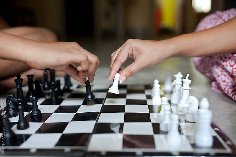 Indoor Chess Playing by PARTHA PAL for Stocksy United