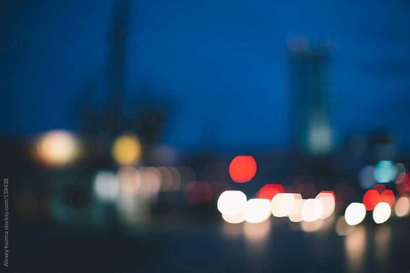 city lights by Alexey Kuzma for Stocksy United