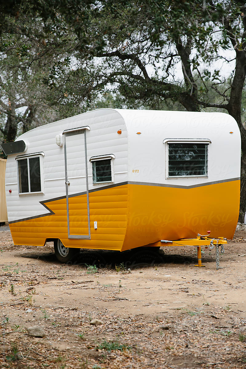 Vintage mobile trailer by Curtis Kim - Stocksy United on trailer homes, aretha's homes, retro park model homes, vintage homes, retro buses, retro motorcycles, retro furniture, 900 square foot homes, retro tile, one level homes, retro boats,