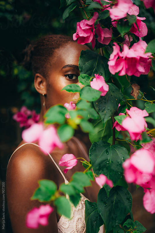 Beautiful Woman in Garden by Marija Savic for Stocksy United