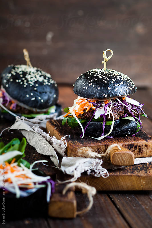 Black burgers by Susan Brooks-Dammann for Stocksy United