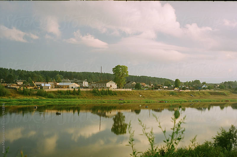 A film photo of a russian river in the countryside by Anna Malgina for Stocksy United