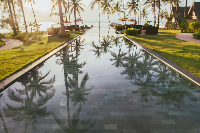 Oceanfront Pool Defocused by VISUALSPECTRUM for Stocksy United