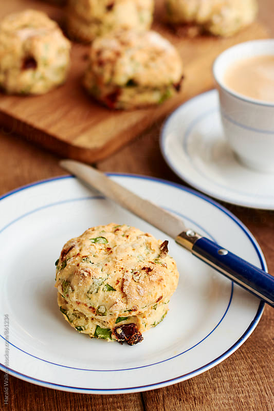 Spinach and Sun-dried Tomato Biscuits by Harald Walker for Stocksy United