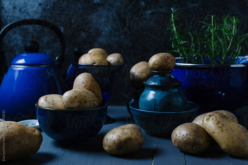Potato still life. Celebrate the humble tattie. by Darren Muir for Stocksy United