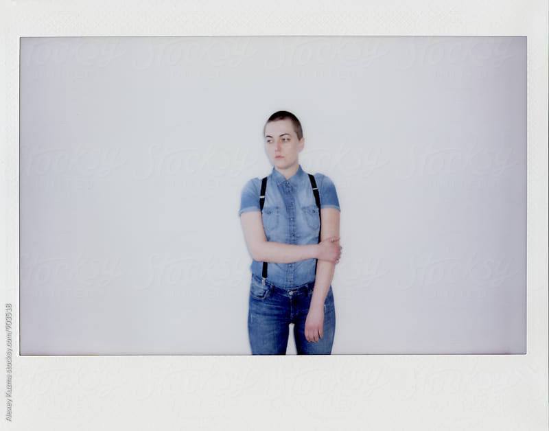 portrait of androgyne by Vesna for Stocksy United