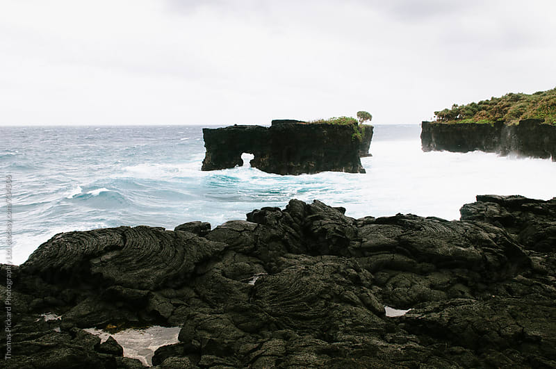 Cliff and waves, South Coast Samoa. by Thomas Pickard for Stocksy United
