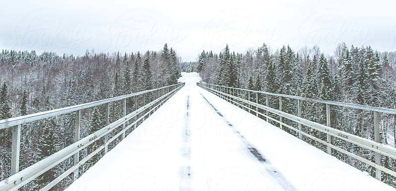 winter bridge by Andreas Gradin for Stocksy United