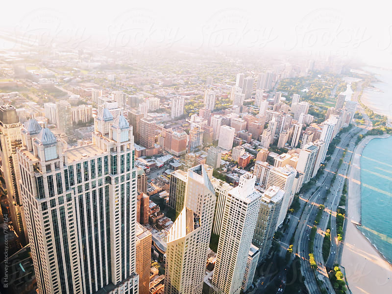 Chicago from the Sky by B. Harvey for Stocksy United