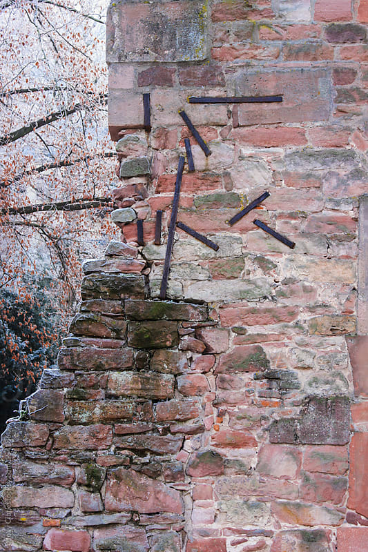 Detail of a German castle wall, Heidelberg, Baden-Württemberg by Holly Clark for Stocksy United