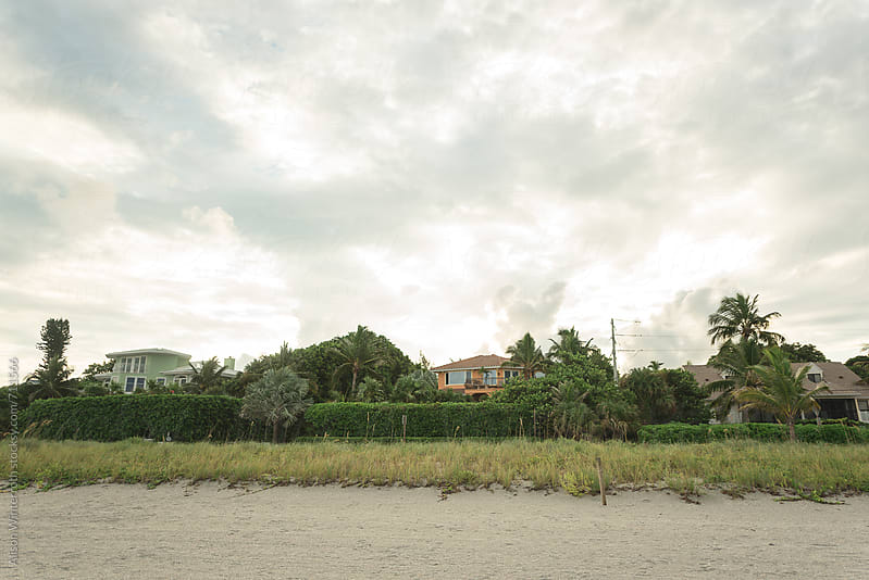 Houses On The Beach At Sunrise by Alison Winterroth for Stocksy United