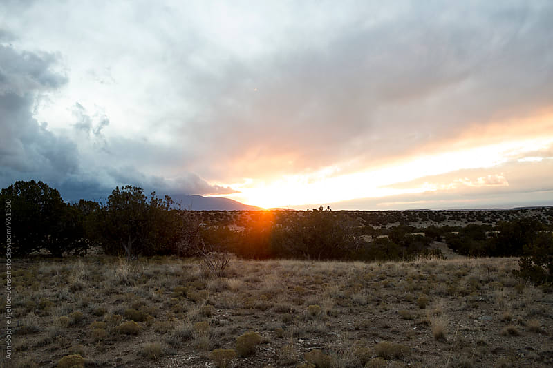 Sunset over New Mexico by Ann-Sophie Fjelloe-Jensen for Stocksy United