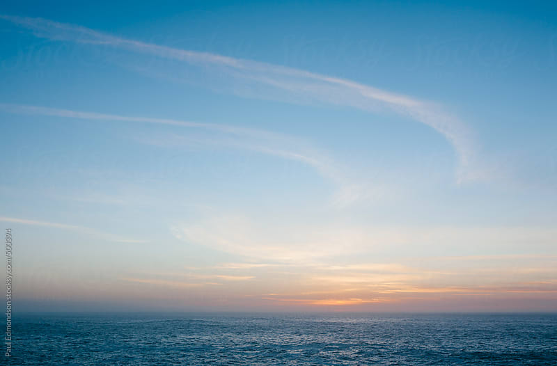 Pacific Ocean at dusk, Big Sur, CA by Paul Edmondson for Stocksy United