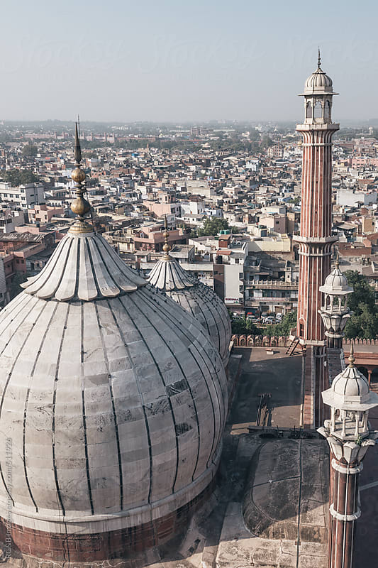 Jama Masjid and the city of Delhi  by RG&B Images for Stocksy United