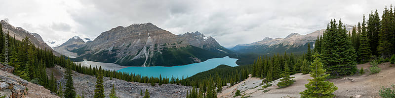 peyto lake panorama in banff national park by Peter Wey for Stocksy United