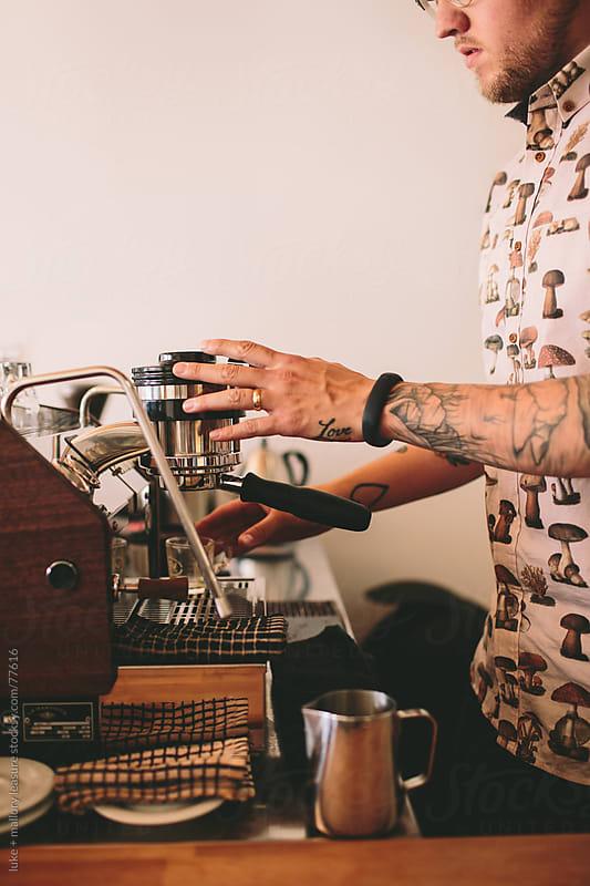 Coffee Man by luke + mallory leasure for Stocksy United