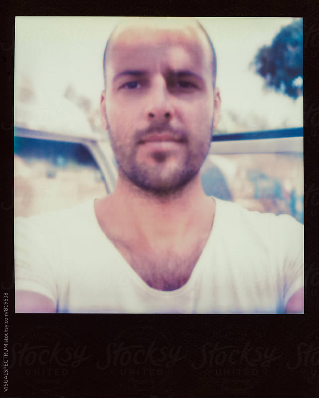 Polaroid Selfie of Young Man by VISUALSPECTRUM for Stocksy United
