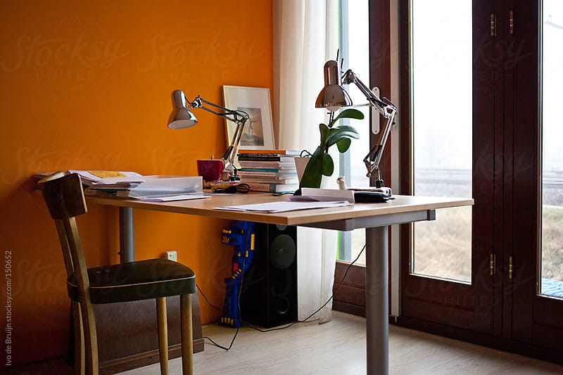 The home office or workplace of a designer by Ivo de Bruijn for Stocksy United