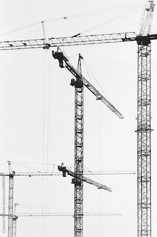 Tower Cranes by Cameron Whitman for Stocksy United
