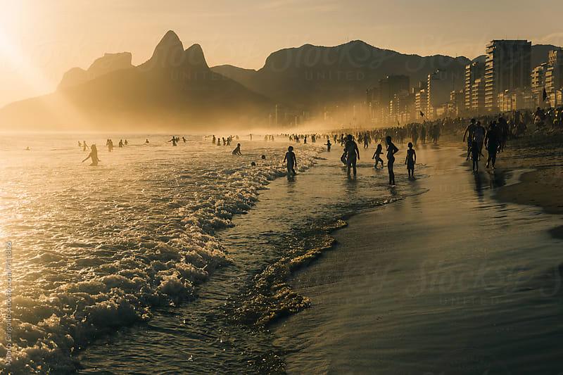Seascape at Ipanema Beach, Rio De Janeiro. Brazil. by Mauro Grigollo for Stocksy United