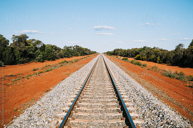 Train tracks near Conoble, New South Wales, Australia. by Thomas Pickard Photography Ltd. for Stocksy United