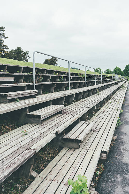 Old-fashioned stadium seating by B & J for Stocksy United