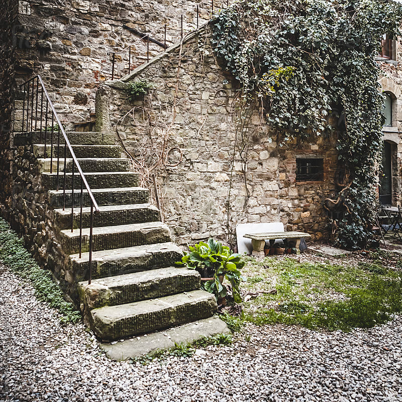 Stone Staircase in Old Italian Village by Giorgio Magini for Stocksy United