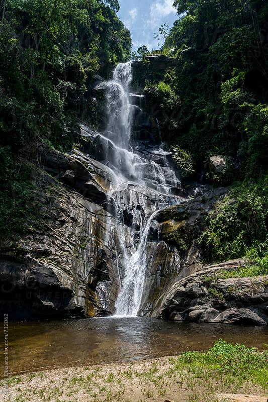 The lush green foliage around Shadow Falls, Venezuela by Gabriel Diaz for Stocksy United
