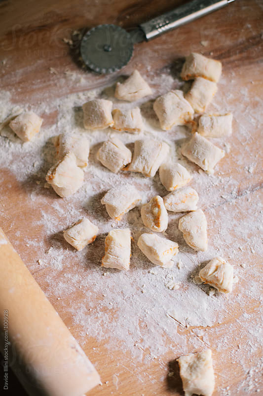 Homemade Pumkin Gnocchi by Davide Illini for Stocksy United