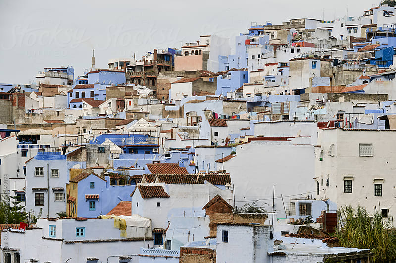 View of Chefchaouen by Bisual Studio for Stocksy United
