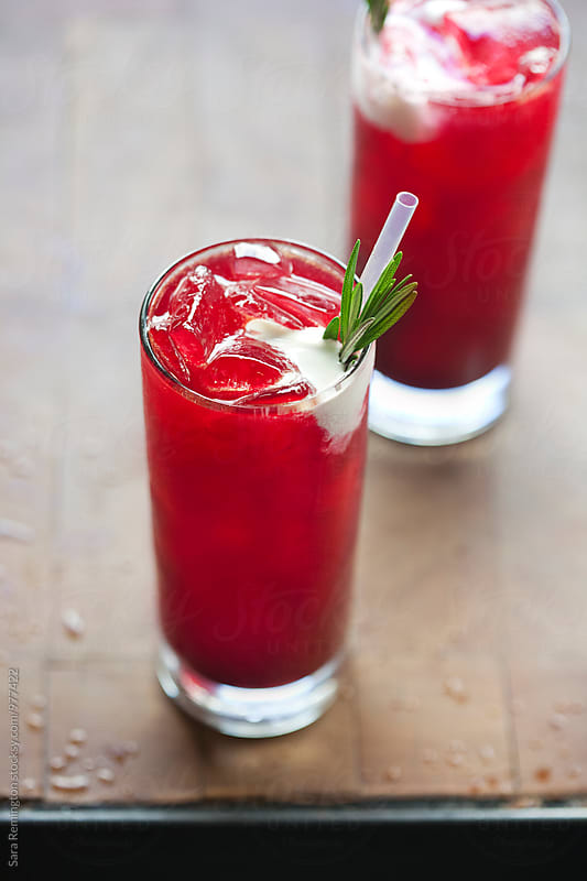 Red Beet Cocktail  by Sara Remington for Stocksy United