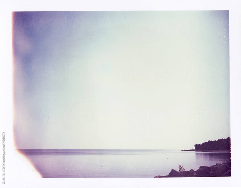 Autumn On The Lake Photographed On Expired Polaroid Film by ALICIA BOCK for Stocksy United