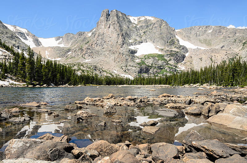 Mountain Lake in the Colorado Rockies by Julie Rideout for Stocksy United