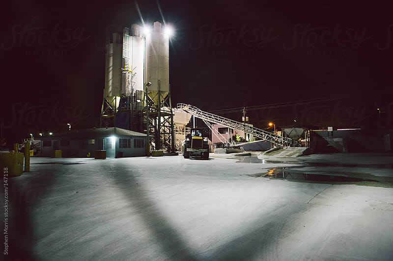 Cement Factory at Night by Stephen Morris for Stocksy United