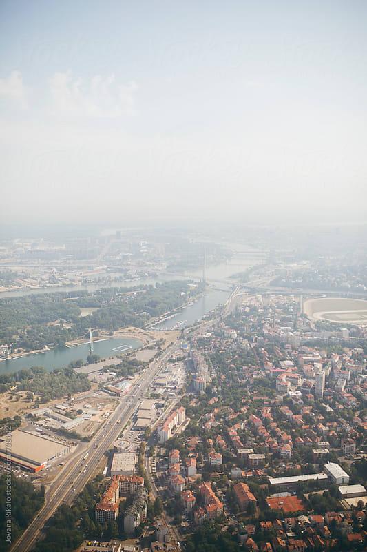 Belgrade city from a plane by Jovana Rikalo for Stocksy United
