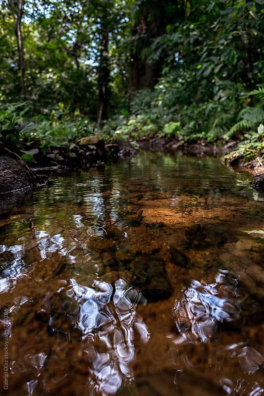 Small river flowing through rocks by Gabriel Diaz for Stocksy United
