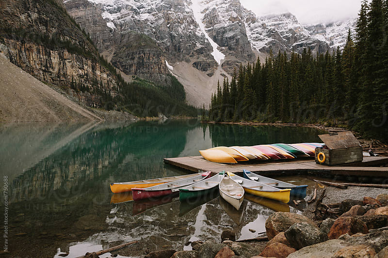Moraine Lake. by Nirav Patel for Stocksy United
